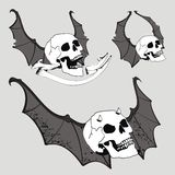 Skull bat wings set vector set2 Royalty Free Stock Photos