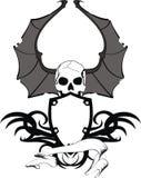 Skull bat wings sticker tattoo shield 2 Royalty Free Stock Photos