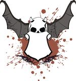 Skull bat wings sticker tattoo shield 4 Royalty Free Stock Images