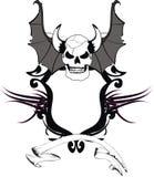 Skull bat wings sticker tattoo shield 5 Stock Photo
