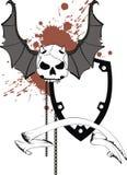 Skull bat wings sticker tattoo shield 6 Royalty Free Stock Photography