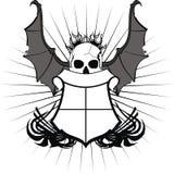 Skull bat wings sticker tattoo shield 7 Stock Photo