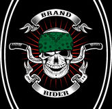 Skull Biker Rider Stock Photography