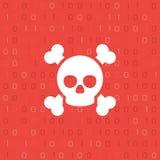 Skull and binary code Stock Photos