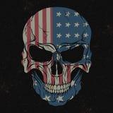 Skull  on black background Stock Image