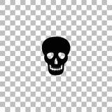 Skull icon flat vector illustration