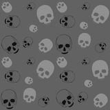 Skull - black and grey background. Skull - black and grey pattern. Vector dark horror textile background Stock Illustration