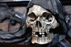 Skull with black scarf Royalty Free Stock Photography