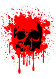 Skull blood Royalty Free Stock Photo
