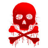 Skull blood. Skull and bones in a beautiful red Stock Photo