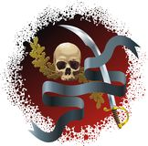 Skull on bloody background Royalty Free Stock Photography