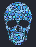 Skull of blue circles Royalty Free Stock Photography