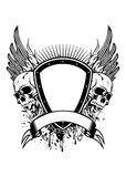 Skull board and wings Royalty Free Stock Image