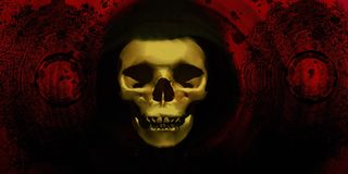 Skull, Bone, Darkness, Close Up Stock Photography
