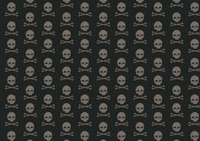 Skull and bone pattern Stock Photography