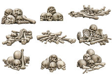 Skull and bone piles Stock Image