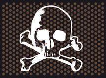 Skull and bones. Vector illustration of Skull and cross bones (variant Royalty Free Stock Photos