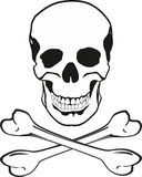 Skull and bones. Isolated on withe background Stock Photography