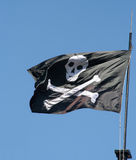 Skull and Bones. Pirate flag with skull and bones stock images