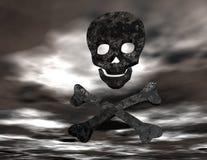 Skull and bones. Digital rendering of skull and bones Stock Images