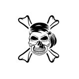 Skull with bones art Royalty Free Stock Photo