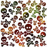 Skull and bones background Stock Images