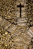 Skull and bones in the Chapel of Bones in Evora, Portugal. Royalty Free Stock Images