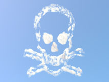Skull and Bones from clouds Royalty Free Stock Images