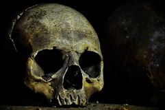 Skull. The bones crypt in UK Stock Photo