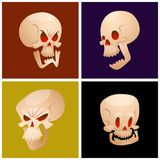 Skull bones human face halloween cards horror   Stock Images