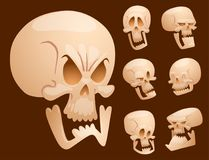 Skull bones human face halloween   Royalty Free Stock Photo
