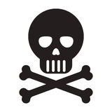 Skull with bones icon Stock Photography