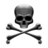 Skull with bones. Jolly Roger. Vector illustration of skull with bones. Jolly Roger Royalty Free Stock Photos