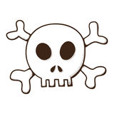 Skull and bones. Jolly Roger symbol. Royalty Free Stock Photo