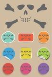 Skull and bones - a mark of the danger warning Stock Photo