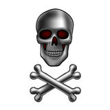 Skull with bones Stock Photo