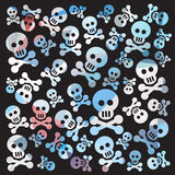 Skull and bones pattern Royalty Free Stock Image
