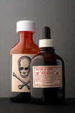 Skull and bones and poison bottle. royalty free stock images