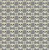 Skull and bones seamless pattern. Skeleton repeating texture. Skulls endless background. Halloween concept. Vector Stock Photos
