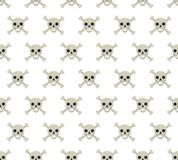 Skull and bones seamless pattern. Skeleton repeating texture. Skulls endless background. Halloween concept. Vector Stock Photography