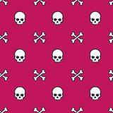 Skull and bones seamless pattern. Eps 10 file, easy to edit Royalty Free Stock Images