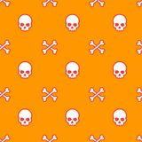 Skull and bones seamless vector pattern. Eps 10 file, easy to edit stock illustration