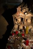 Skull and bones. In ancient ossuary, Naples stock photos