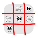 Skull and bones tic tac toe Royalty Free Stock Photography