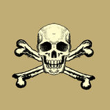 Skull and Bones Royalty Free Stock Photography