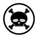 Skull and bones vector icon. Royalty Free Stock Image