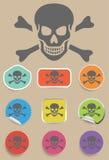 Skull and bones warning sign - vector Stock Photo