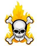Skull and bones. Royalty Free Stock Photos