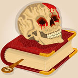 Skull on a book. Stock Photography