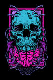 Skull and Brain. Vector illustration of skull and brain Stock Photography
